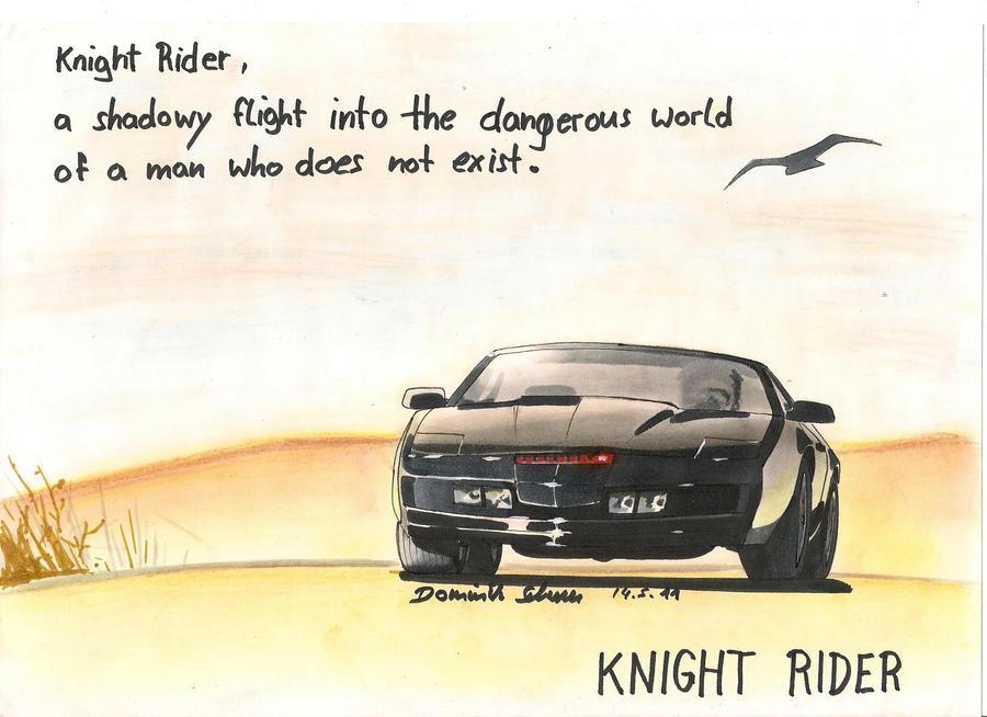 KnightRider Kitt Art by dominikscherrer