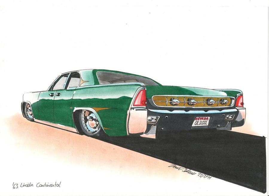 Ridin' Low Car Drawing