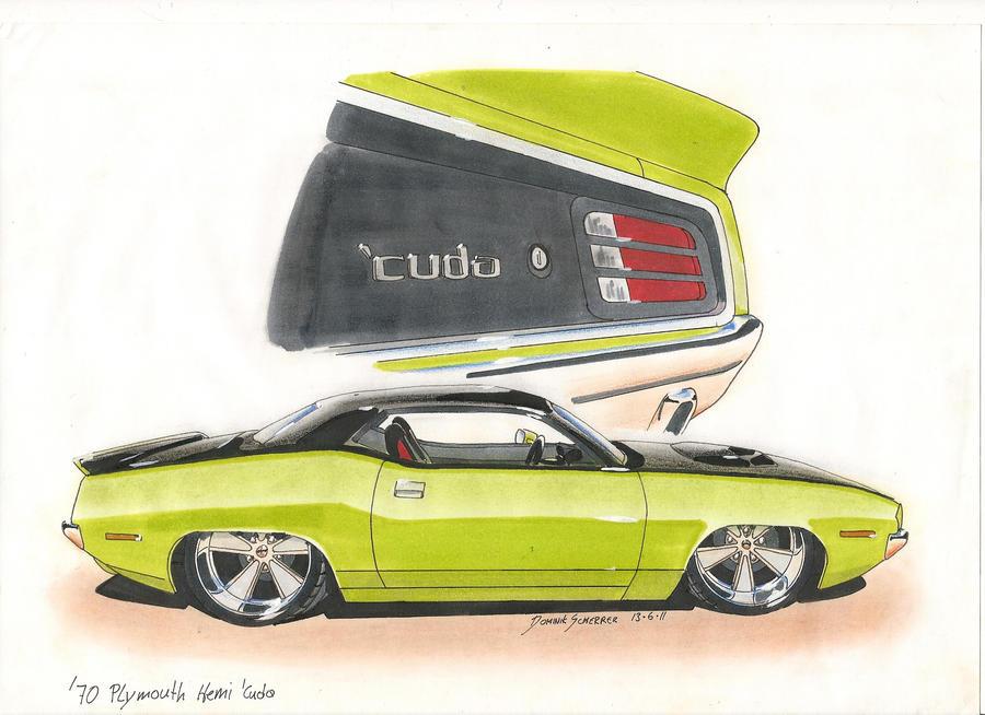 '70 HEMI Cuda Car Painting