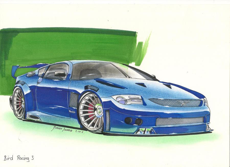 Bird Racing 3 Car Painting