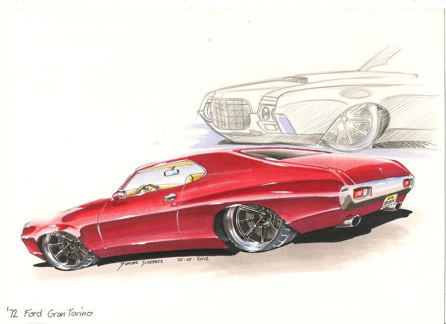 '72 Ford Gran Torino Car Painting
