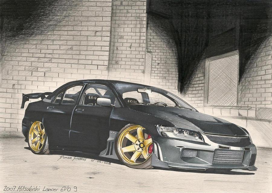 EVO IX Car Art