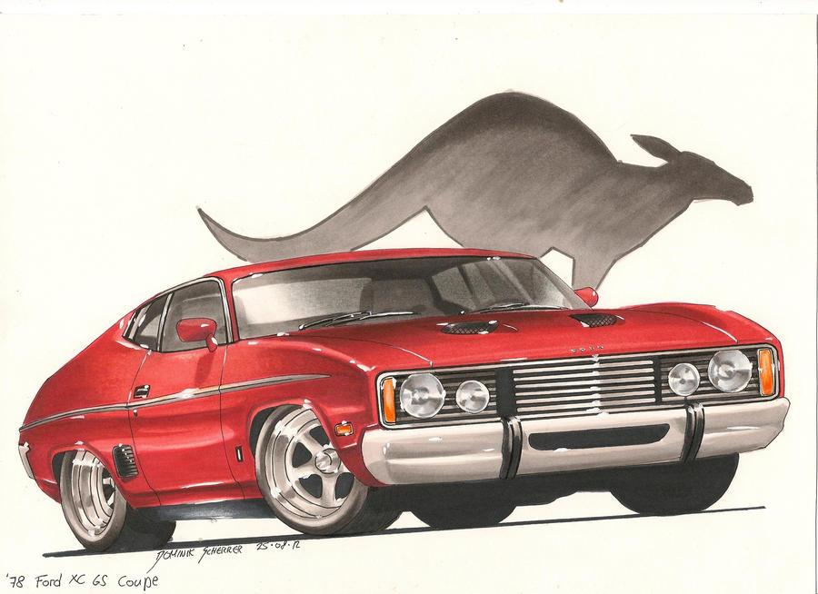'78 Ford Falcon Car Art