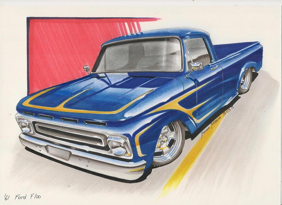 '61 Ford F100 Car sketch