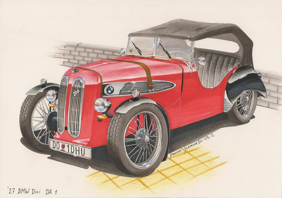'27 BMW DIXI Da 1 Car sketch