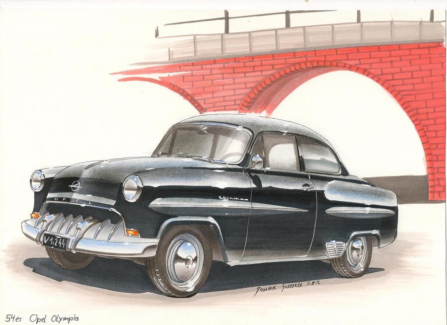 54er Opel Olympia Car sketch