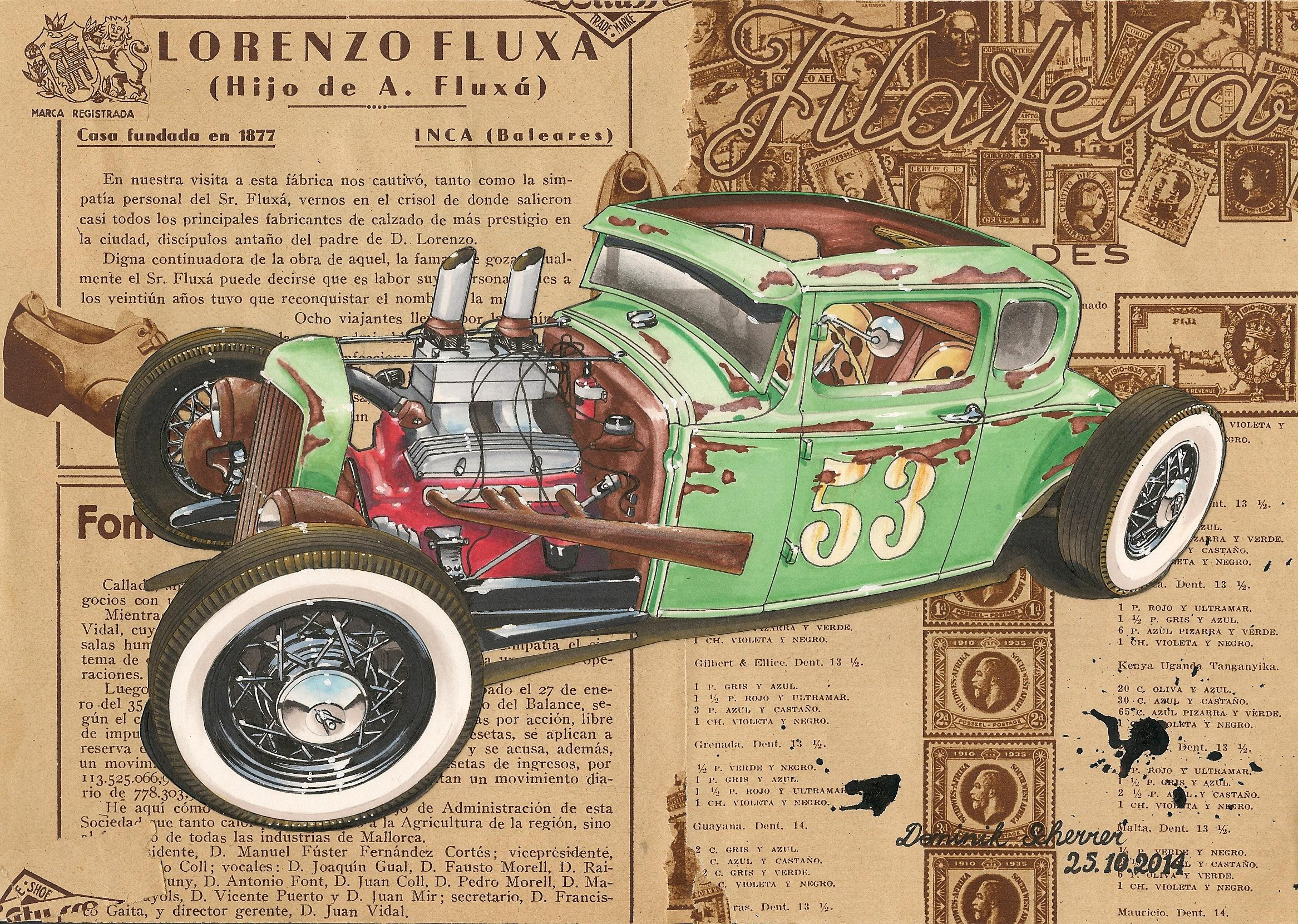 30 Ford Five Window Rat Rod By Dominikscherrer On Deviantart