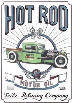 Vintage Hot Rod Sign