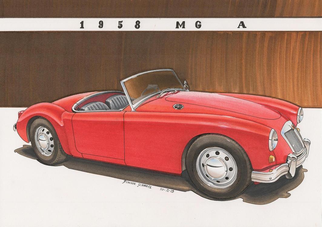 '58 MG A by DominikScherrer