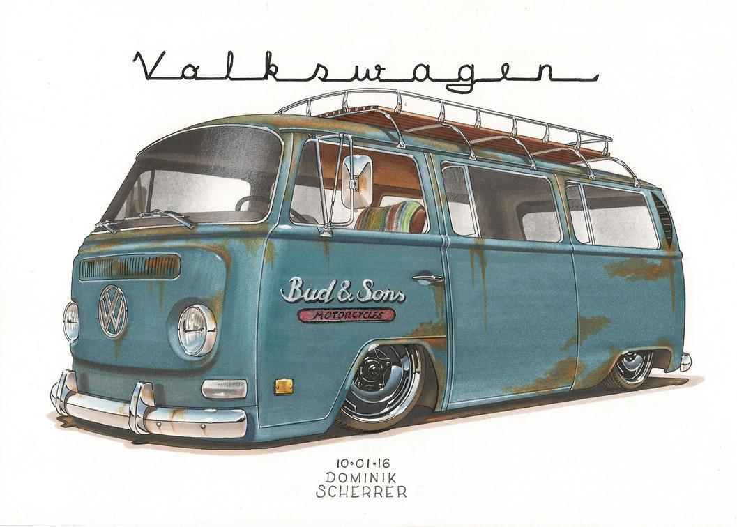 69 VW Bus T2 by DominikScherrer on DeviantArt