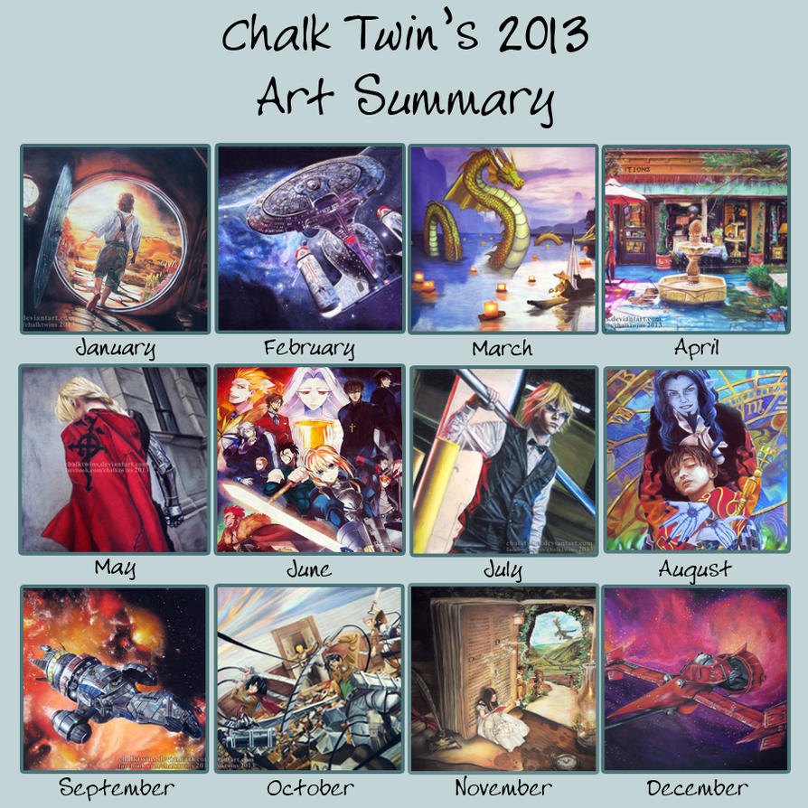 Art Summary 2013 by ChalkTwins