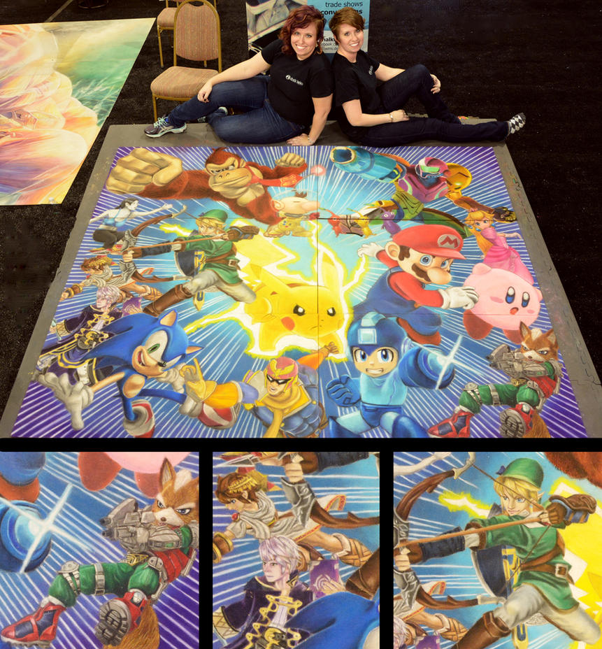 Super Smash with Artists and Details by ChalkTwins