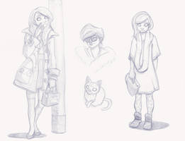 Girls from Fruits Sketch by Ceydran