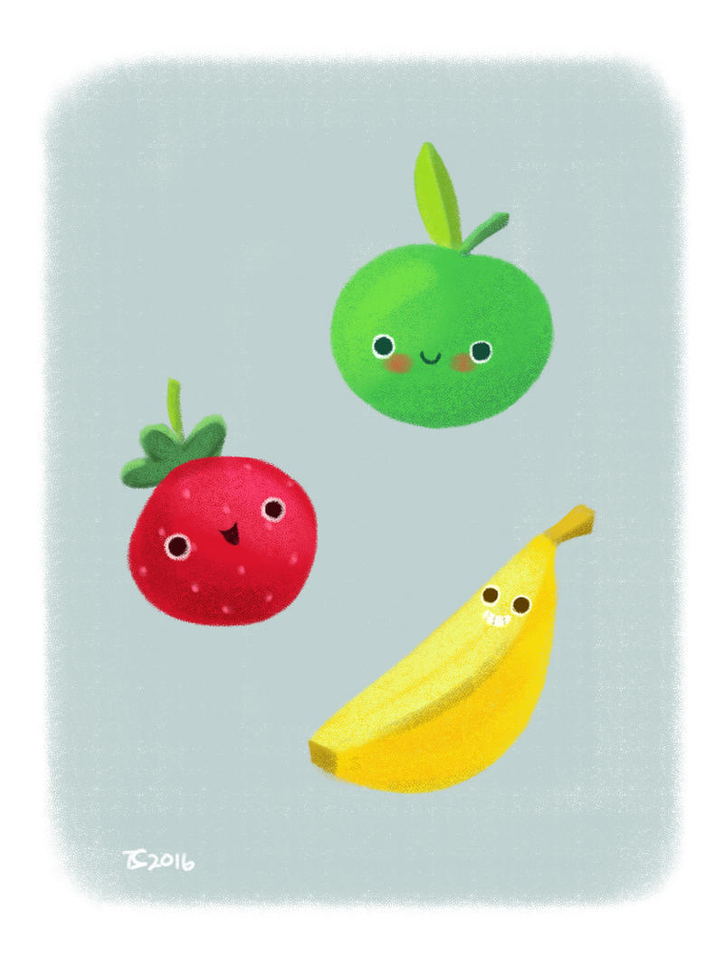 Happy Fruits by Ceydran