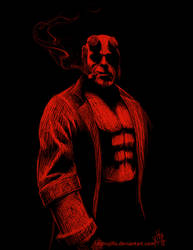 Hellboy by redtrujillo