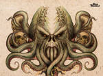 Cthulhu tattoo design for back or chest