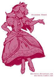 Dan Redraws Princess Peach by dan-heron