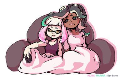 Splatoon Pearl and Marina by dan-heron
