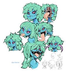 loz Deku Daba monster girl by dan-heron