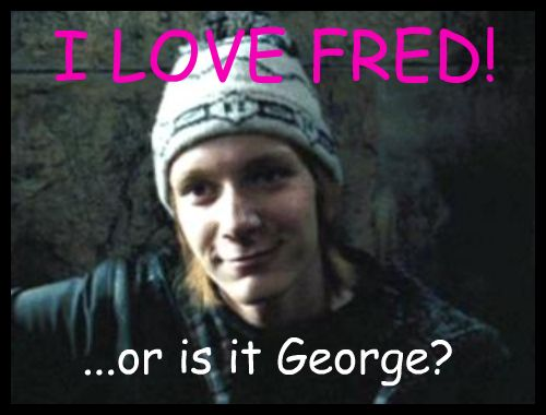 how to tell fred and george apart
