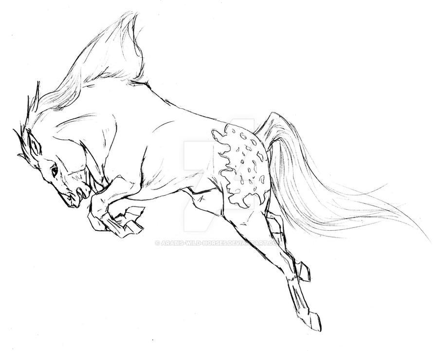 bucking mustang by arabis wild horses