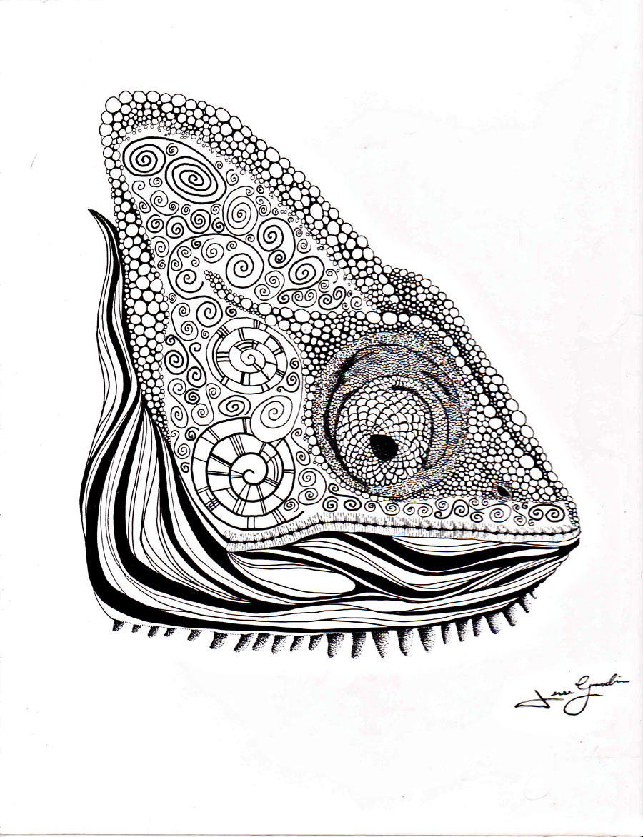 Uncategorized Chameleon Drawings chameleon by pencil face on deviantart face