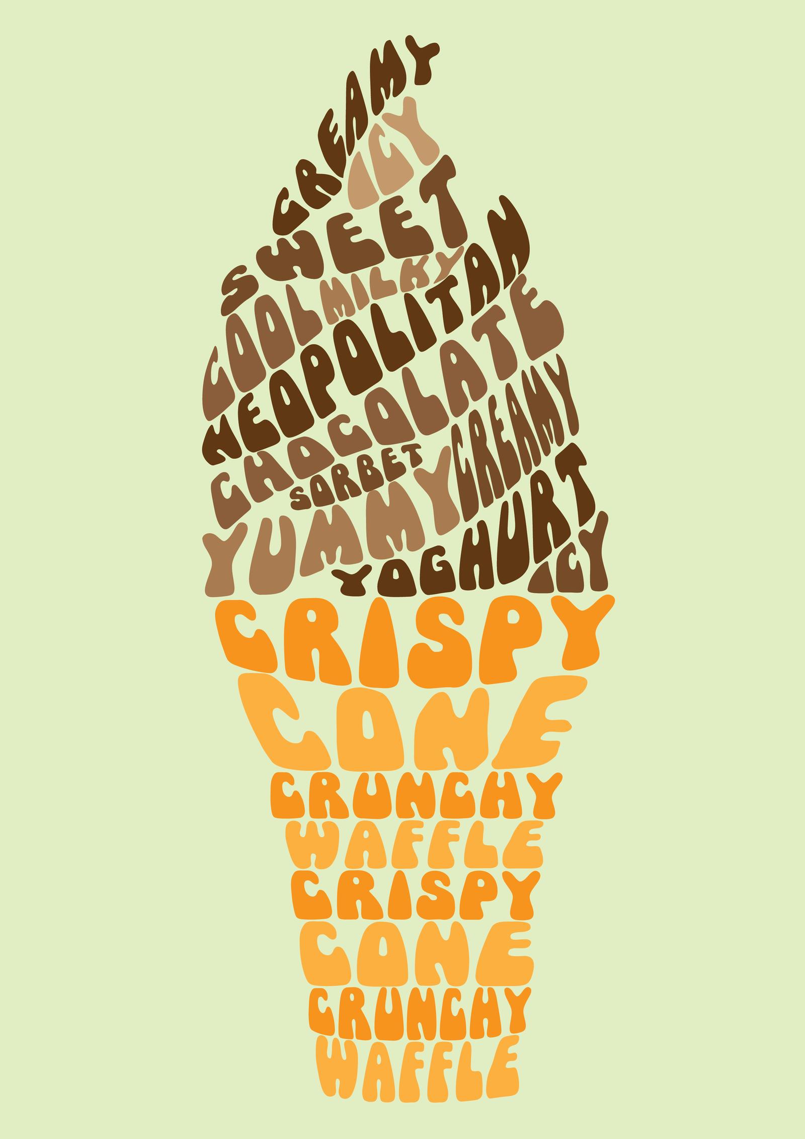 Typography Design - Ice-cream