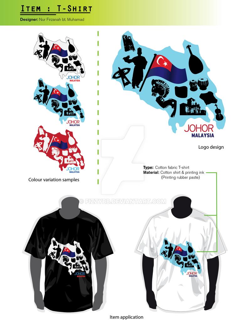 Design t shirt johor - Johor T Shirt Design By Fizzybb