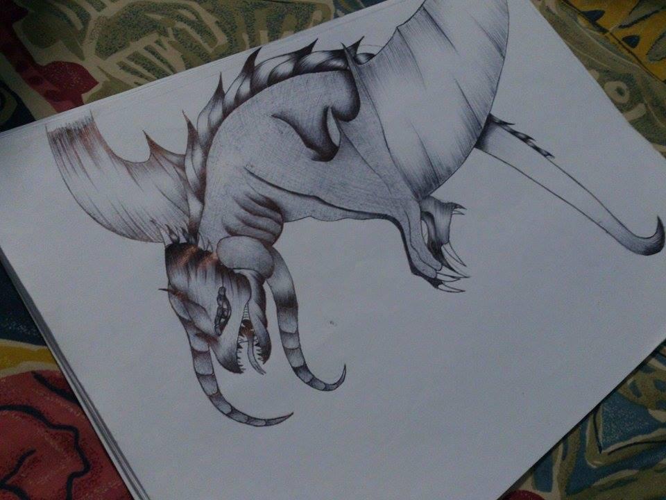 Dragon (Pen shading) by keitaro1993