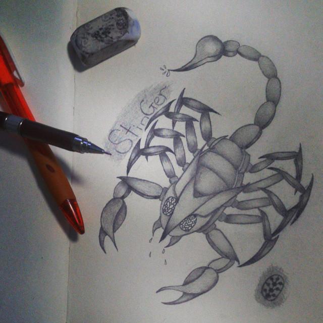 Scorpion Drawing by keitaro1993