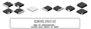 Isometric tileset: Streets