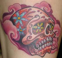Pink Sugar Skull by JasonBlanton
