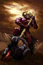 Dark warrior by andresmoreno