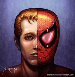 Peter Parker AKA Spiderman by andresmoreno