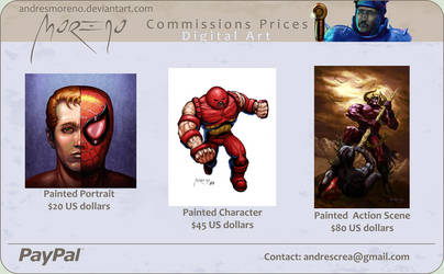 Commissions Prices by andresmoreno