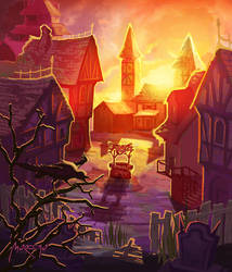 Medieval Village from Asedio TCG