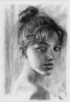 Desenho Rosto menina deviant1 by GParada