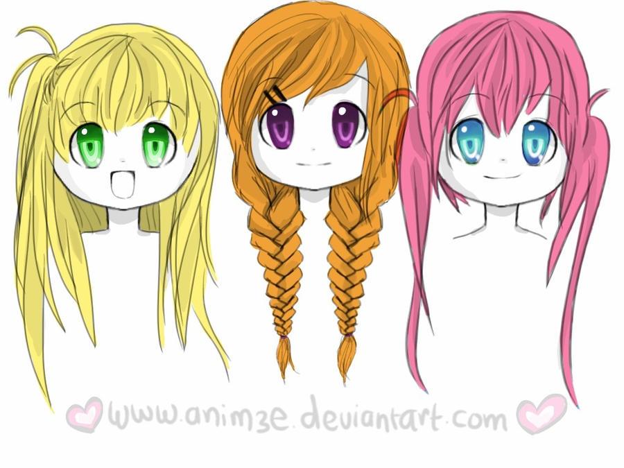 Girl Hairstyles By Anim3e On DeviantArt