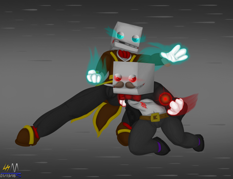 Battle between Hatty and Maya