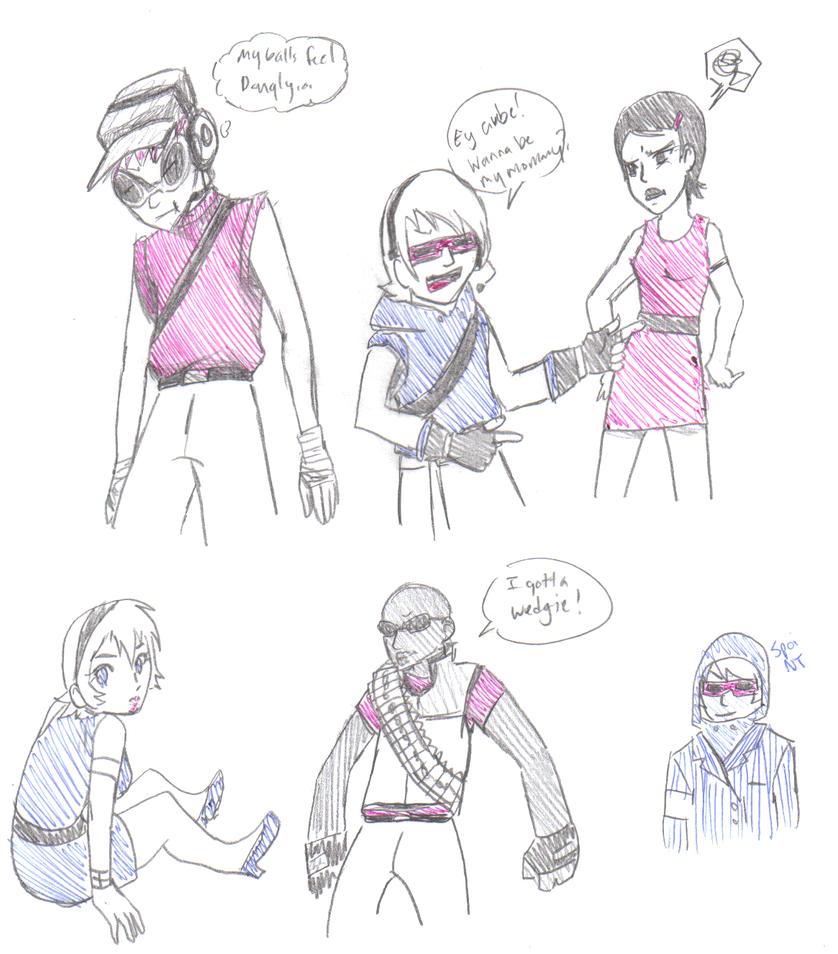 JSRFTF2 Class doodles by Hakadirune