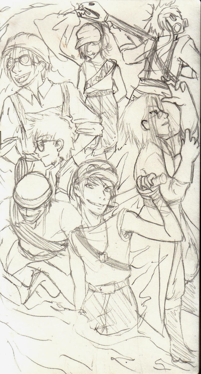 Sketch: Blu team by Hakadirune