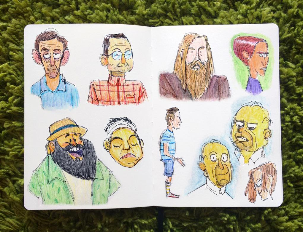 Sketching people's faces by ClaudioNaccari