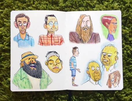Sketching people's faces