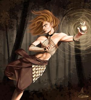 Loki steals Idun's golden apples