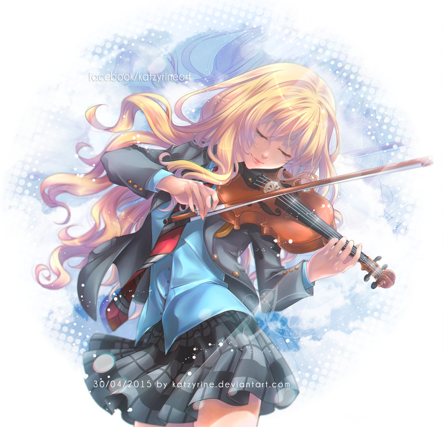 Your Lie In April Coloring Pages Kaiori