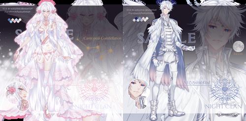 Custom Adopts - Astral God N16 and N17 by Katzyrine