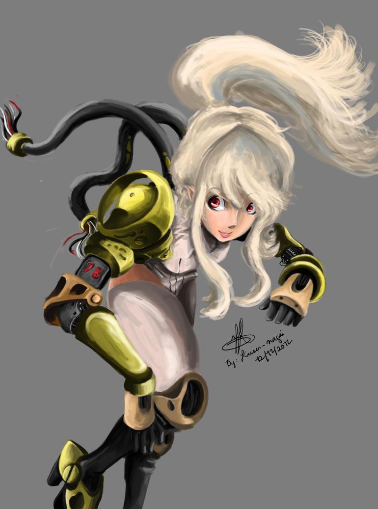 Random anime girl: cyborg girl! by kaiser-nagai on DeviantArt