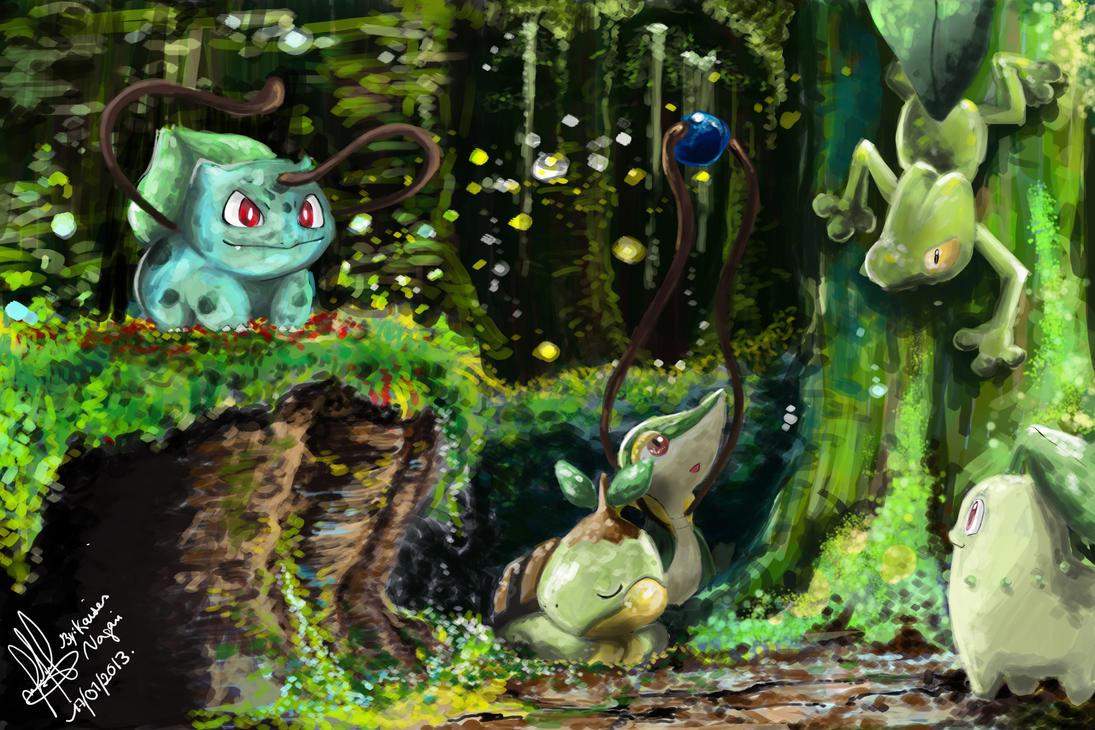 Grass Starter Pokemon Wallpaper Pokemon - starters grass by
