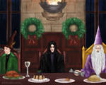 Severus Snape And The Christmas Cracker Panel 1 by thesilversiren1