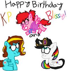 Happy Birthday KP and Blissy!!! by LovestruckDart